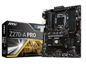 MSI Pro Series Z270 USB 3 CrossFire ATX Motherboard
